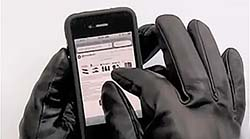 Hammacher Schlemmer Leather Smart Phone Gloves At MicroMetl