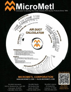 Air Duct Calculator Ductulator At MicroMetl
