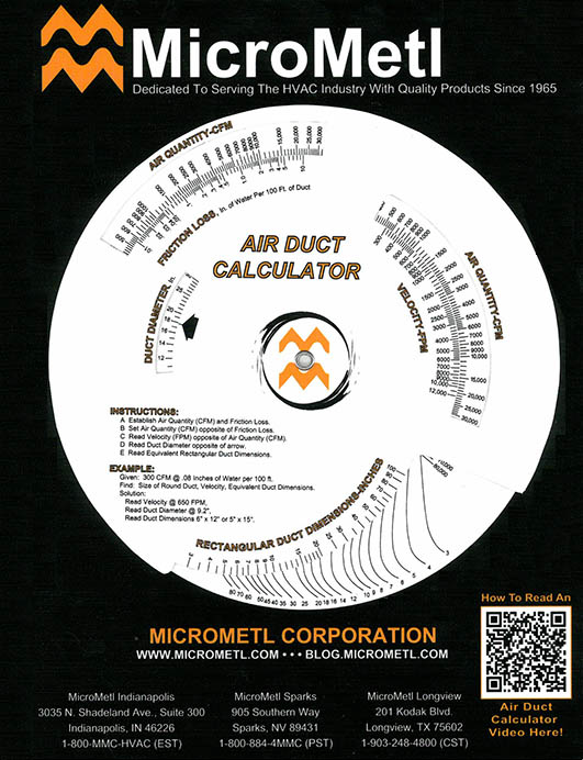 Air Duct Calculator (Ductulator), What Is It & How Does It Work