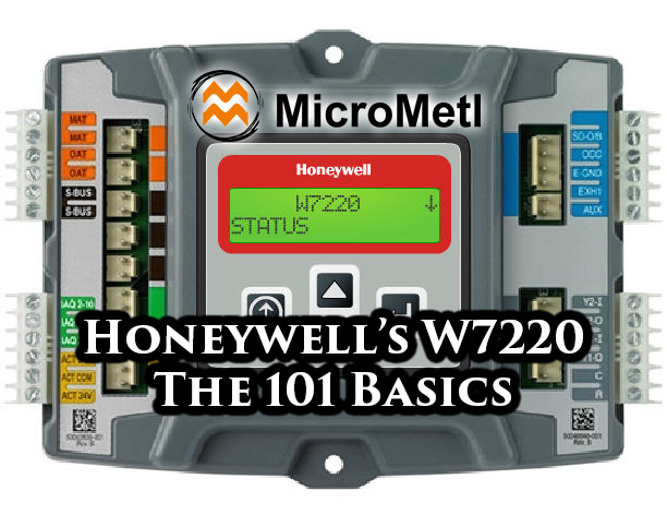Honeywell W7220 At MicroMetl honeywell's jade w7220 controller the 101 basics! micrometl micrometl economizer wiring diagram at gsmx.co