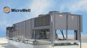 ERV And RTU On Rooftop At MicroMetl