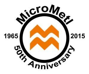 MicroMetl's 50 Year Logo