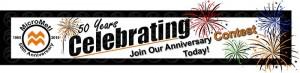 MicroMetl 50th Anniversary Contest Ad Banner